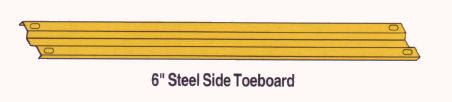 scaffolding guard rail toe board