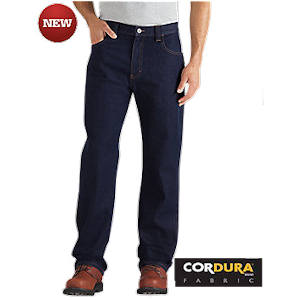 Regular Fit Straight Leg 5-Pocket Denim Jean with Cordura®