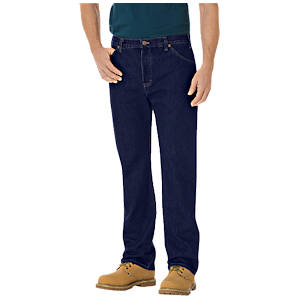 Regular Straight Fit 6-Pocket Denim Jeans