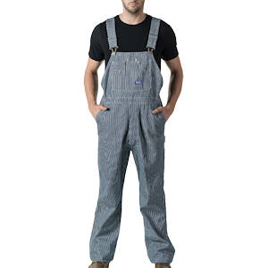 Washed Duck Zip-Fly Bib Overalls