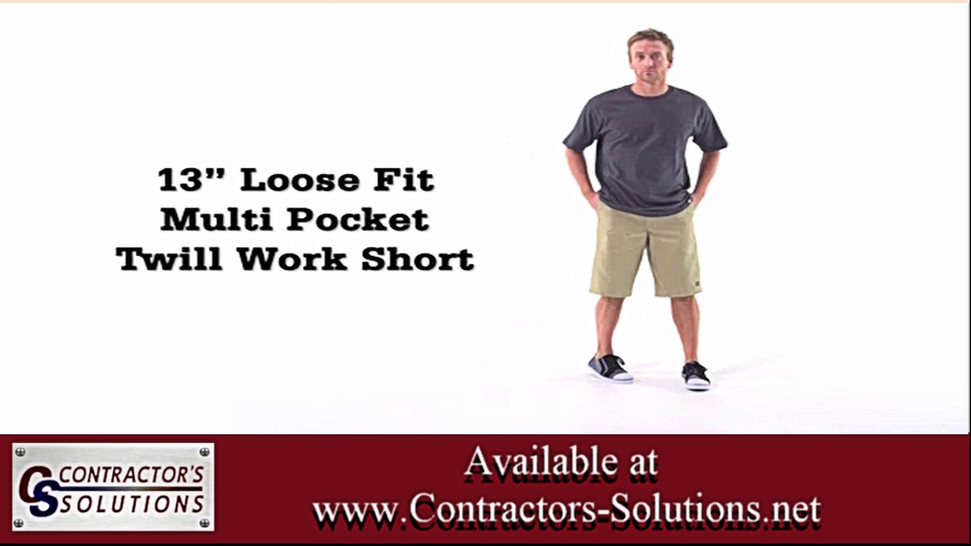 Loose Fit Multi Pocket Twill Work Shorts