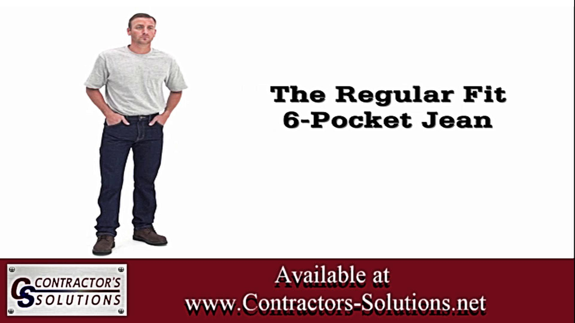 Regular Fit 6 Pocket Jeans